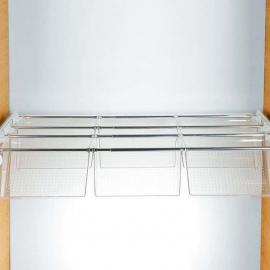 Polycarbonate transparent - white - bright aluminium